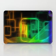 Abstract Glowing Lines iPad Case