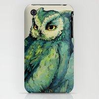 iPhone Cases featuring Green Owl by Teagan White