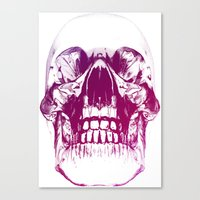 purple crystal skull Canvas Print