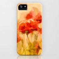 Fiery Poppies In A Golde… iPhone (5, 5s) Slim Case