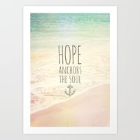 ANCHOR OF HOPE Art Print