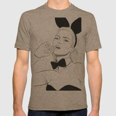 Kate Moss Bunny Mens Fitted Tee Tri-Coffee SMALL