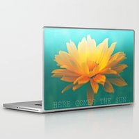 sunflower Laptop & iPad Skins featuring SUNFLOWER  by Monika Strigel
