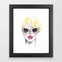 Blonde Chic Framed Art Print