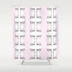 Metamorphosis in Pink and Black Shower Curtain
