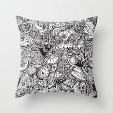 Detailed Rectangle, Blac… Throw Pillow