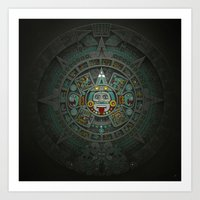 Art Print featuring Stone of the Sun II. by Dr. Lukas Brezak