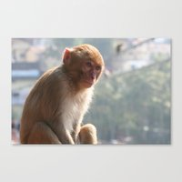 Thinking of you all day Canvas Print
