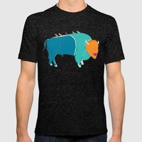 Bristol Bison Mens Fitted Tee Tri-Black SMALL