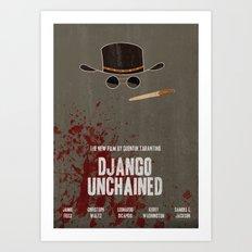 Django Unchained Movie Poster Art Print