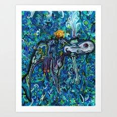 Light Whale Art Print