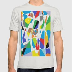 Paint :) Mens Fitted Tee Silver SMALL
