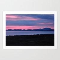 Harlech Sunset Art Print