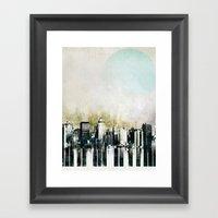 Music Of The City Framed Art Print