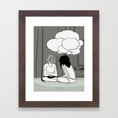 The Talk Framed Art Print