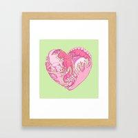 Loveasaurus Framed Art Print