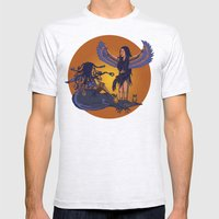 Medusa of Music meets Lilith Mens Fitted Tee Ash Grey SMALL