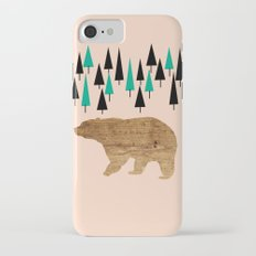 Bear in the woods iPhone 7 Slim Case
