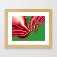 Pink N Green Framed Art Print