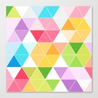Colorful Triangle Mosaic Canvas Print