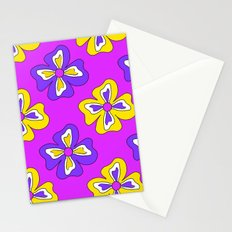 Pop pansy pattern! Stationery Cards