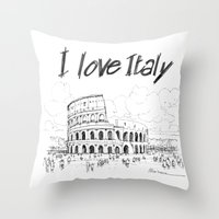 Il colosseo (Roma) Throw Pillow