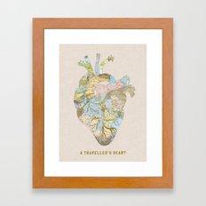 A Traveler's Heart Framed Art Print