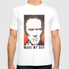 Go ahead make my day. White Mens Fitted Tee SMALL