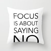 Focus is about.... Throw Pillow