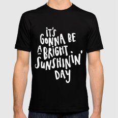 Sunshin' Day Mens Fitted Tee Black SMALL