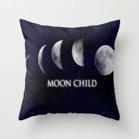 Moon Child Throw Pillow
