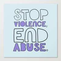 STOP VIOLENCE, END ABUSE Canvas Print