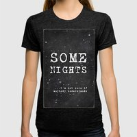 SOME NIGHTS Womens Fitted Tee Tri-Black SMALL
