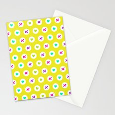 Hearts and kisses Stationery Cards