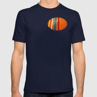 In Woven Color Mens Fitted Tee Navy SMALL