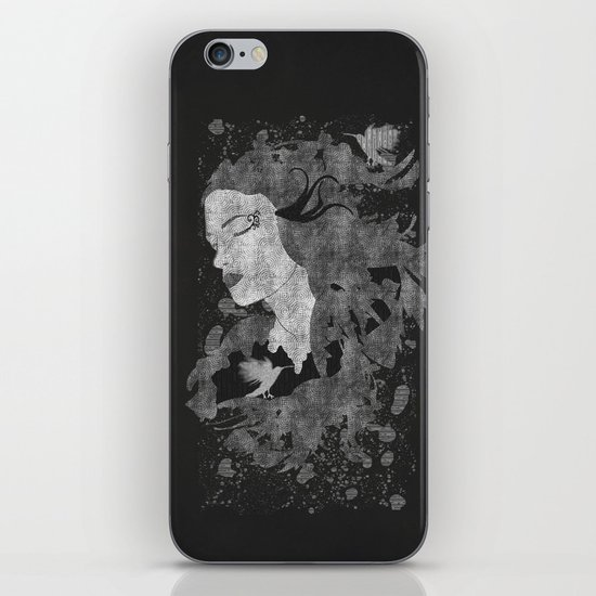 Cosmic dreams (B&W) iPhone & iPod Skin