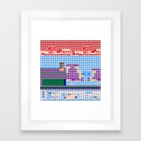 > NES v3 Framed Art Print