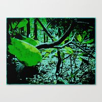Garden In Eclipse Canvas Print