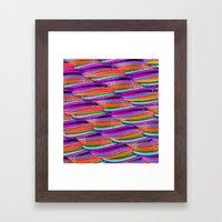 Curved Disco World Framed Art Print