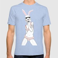 Follow The White Rabbit Mens Fitted Tee Tri-Blue SMALL