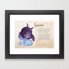 Real Monsters- Depression Framed Art Print