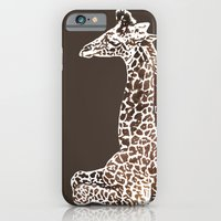 iPhone & iPod Case featuring Giraffe in Brown by Sunshine Inspired Designs