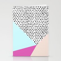 Polka dot rain geometric Stationery Cards