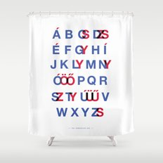 The Hungarian ABC Shower Curtain