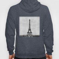 Eiffel Tower In Greyscal… Hoody