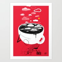 Coffee ASleep Art Print