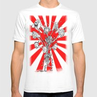 Seppuku Monster Mens Fitted Tee White SMALL