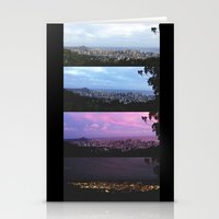 New York Skyline Portrait Time Frames Stationery Cards
