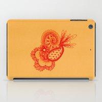 Red Arabesque iPad Case