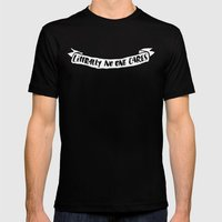 Literally No One Cares Mens Fitted Tee Black SMALL